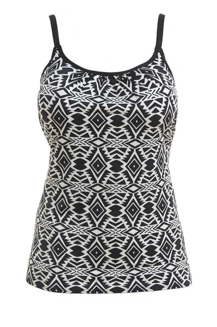 Fantasie Beqa FS6350 W Underwired Sccop Neck Tankini Top Black Cream