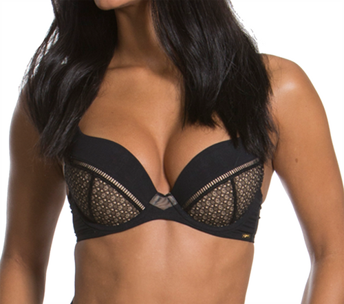 Gossard Graphic Luxe 16901 Underwired Plunge Bra Black (BLK) CS