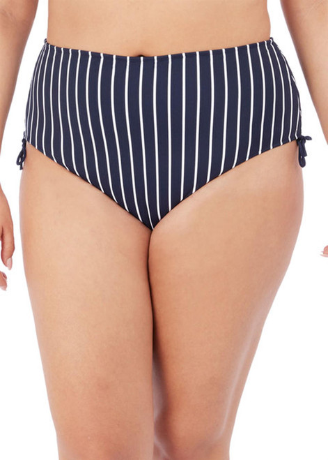 Elomi Plain Sailing ES7277 High Waist Adjustable Bikini Brief Midnight Stripe CS