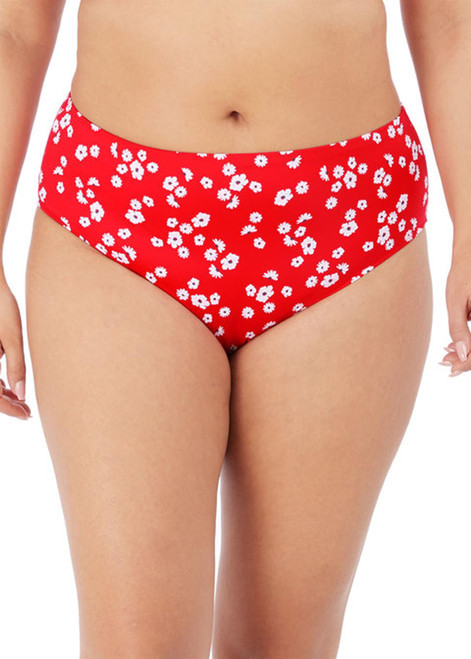 Elomi Plain Sailing ES7275 Full Classic Flat Seam Bikini Brief Red Floral CS