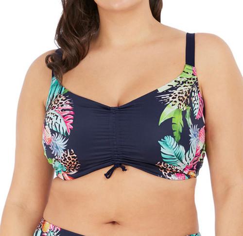 Elomi Pina Colada ES7263 W Underwired Crop Top Bikini Top Midnight CS
