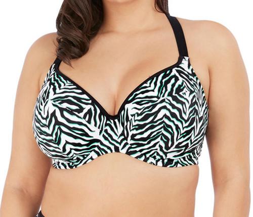 Elomi Zulu Rhythm ES7252 Underwired Multiway Plunge Bikini Top Black CS