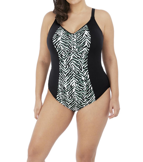 Elomi Zulu Rhythm ES7250 Non-Wired Moulded Slimming Swimsuit Black CS