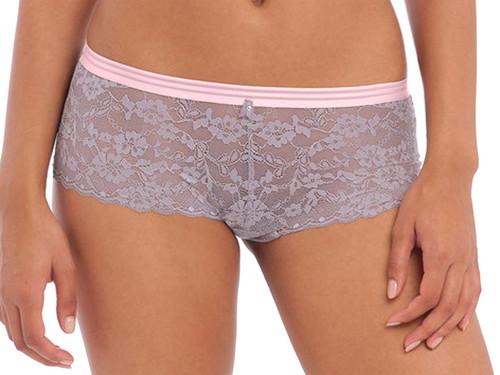Freya Offbeat AA5456 Elastic Waist Sheer Lace Short Brief Mineral Grey CS