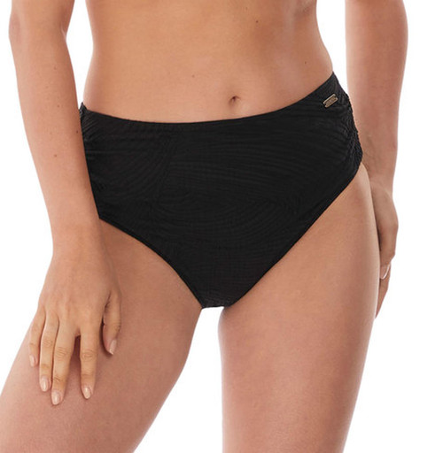 Fantasie Ottawa FS6363 Deep Gathered Higher Waist Bikini Brief Black CS