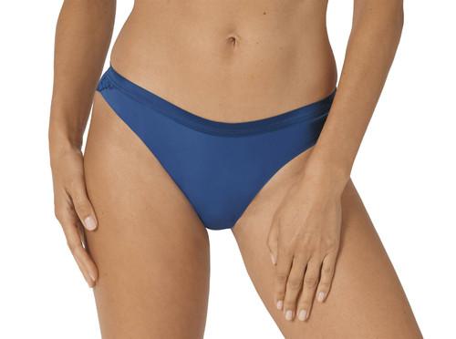 Triumph Aura Spotlight High Leg String Microfibre Thong Brief Blue Sapphire CS