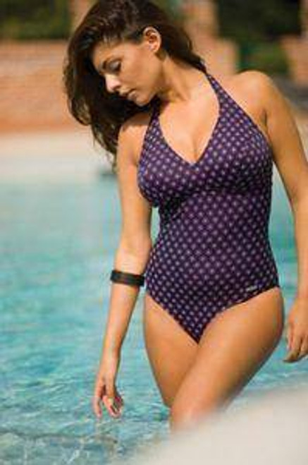 TRIUMPH 4 YOUR CURVES OP PADDED HALTER NECK SWIMMING COSTUME