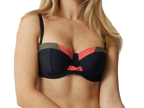 Bestform 25401 Herradura Underwired Bandeau Bikini Top Black (030) CS