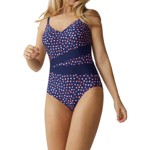 Bestform 71406 Tamarindo Non-Wired Padded V-Neck Swimsuit Navy 9B2 CS