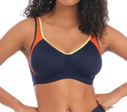 Freya Active Sonic AC4892 Underwired Moulded Sports Bra Navy Spice CS