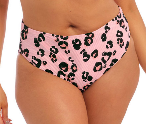 Elomi Kambuku ES800272 Mid Rise High Leg Lightweight Bikini Brief Pink CS