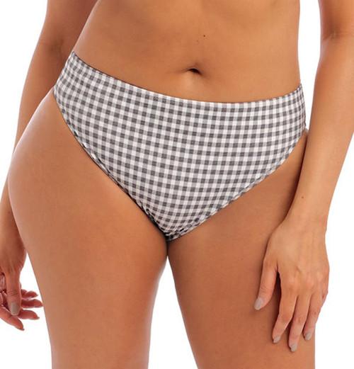 Elomi Checkmate ES800372 Mid Rise High Leg Bikini Brief Grey Marl CS