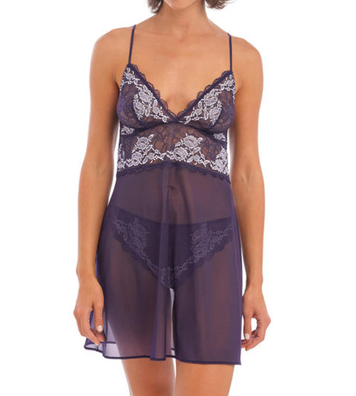 Wacoal Lace Perfection WE135009 Sheer Chemise Evening Blue EVE CS