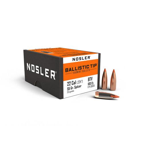NOSLER .22 CAL (.224) 55GR BALLISTIC TIP VARMINT   100PK