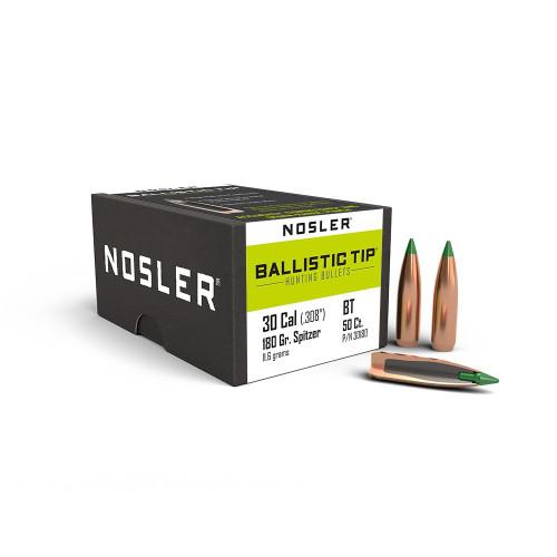 NOSLER .30 CAL (.308) 180GR BALLISTIC TIP   50 PACK