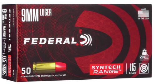FEDERAL 9MM LUGER 115GR SYNTECH RANGE | 50 PACK