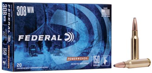 FEDERAL .308 WIN 180GR POWER-SHOK SP | 20 PACK