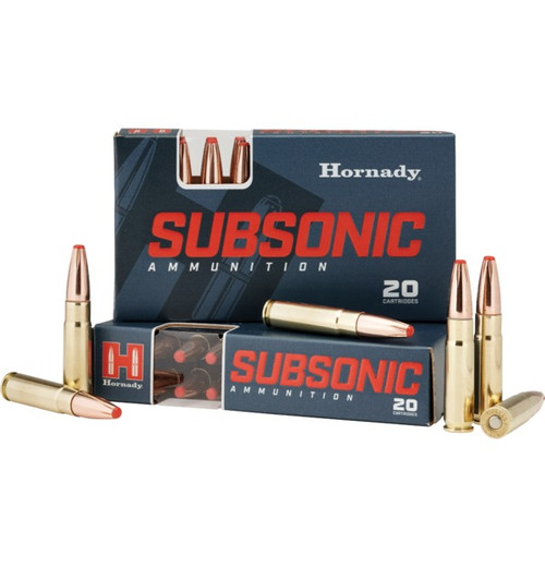 HORNADY .300 AAC BLACKOUT 190 GR SUB-X SUBSONIC | 20 PACK