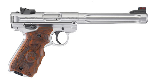 RUGER MKIV HUNTER STAINLESS .22LR WITH TARGET GRIPS