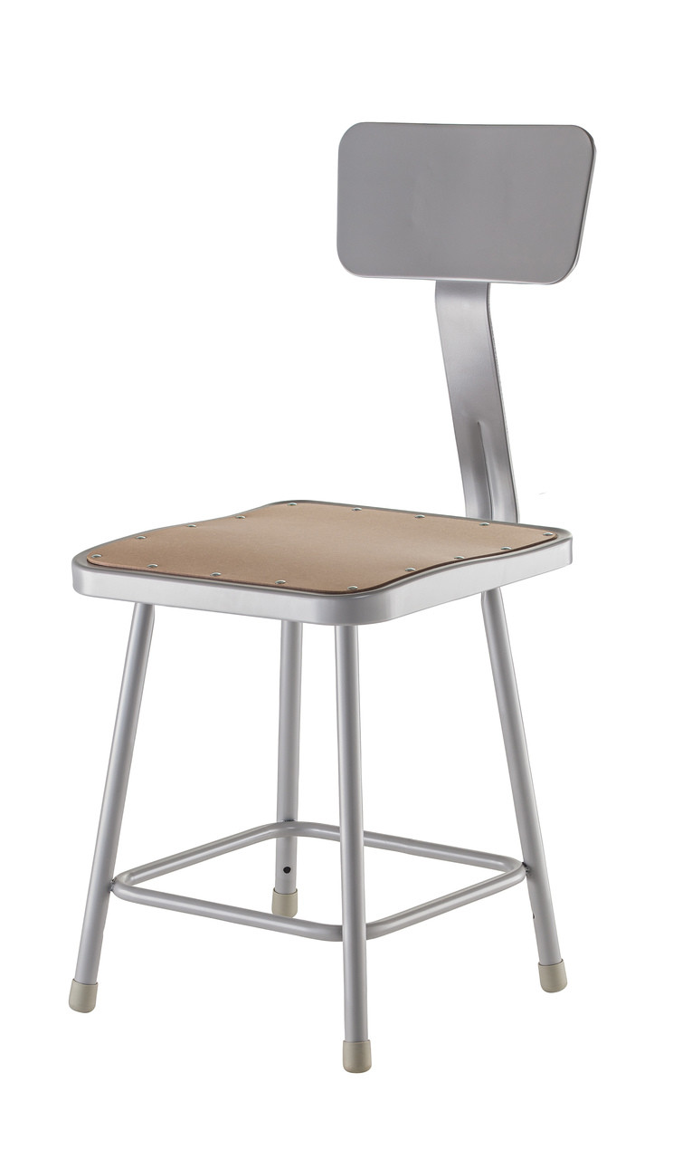 Stupendous National Public Seating 6318B Stool With Square Hardboard Seat And Backrest 18 Inch Height Frankydiablos Diy Chair Ideas Frankydiabloscom