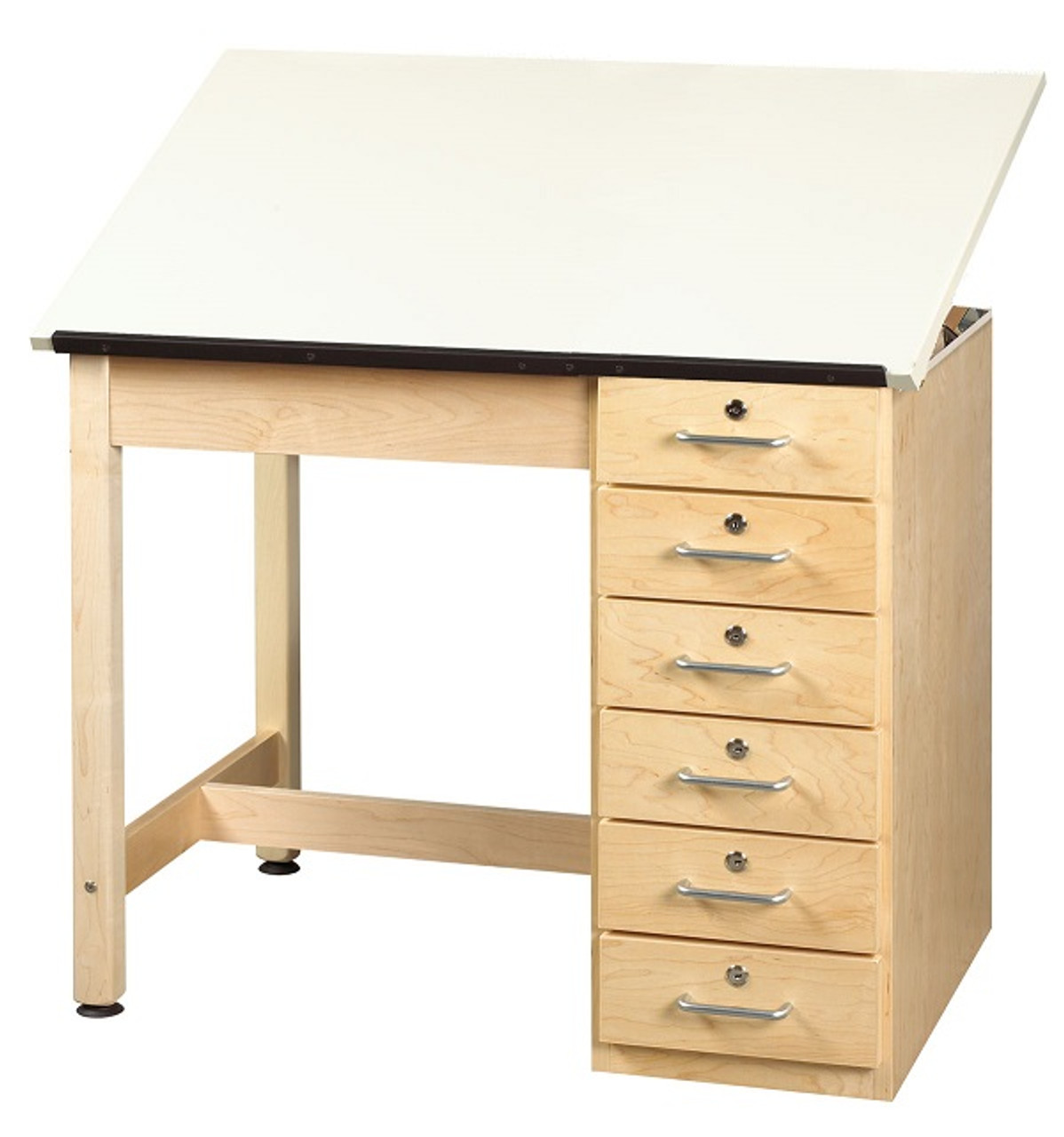 Enjoyable Shain Dt 4A Drafting And Art Table With 6 Drawers And Adjustable Top Home Interior And Landscaping Analalmasignezvosmurscom