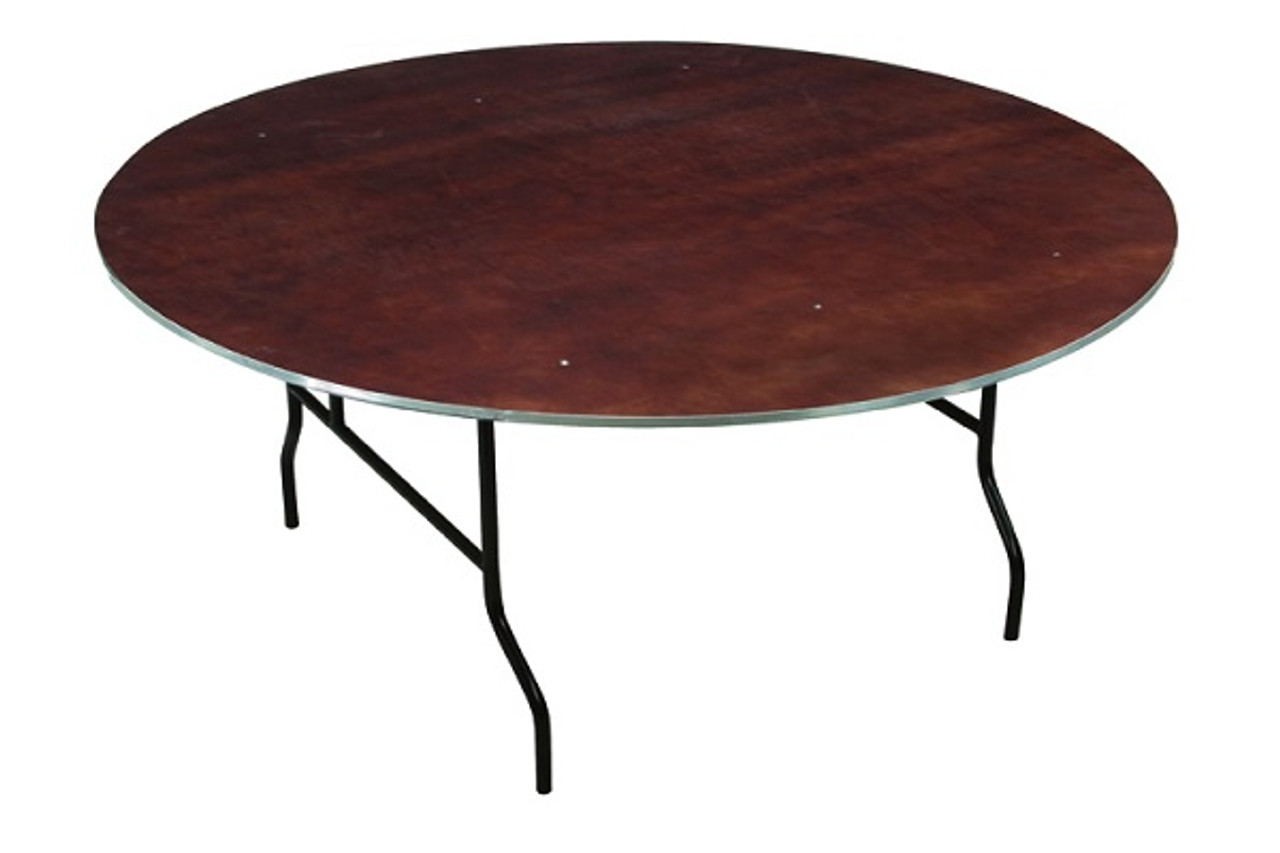Midwest R60E Plywood Core 60 inch Round Folding Table l ...