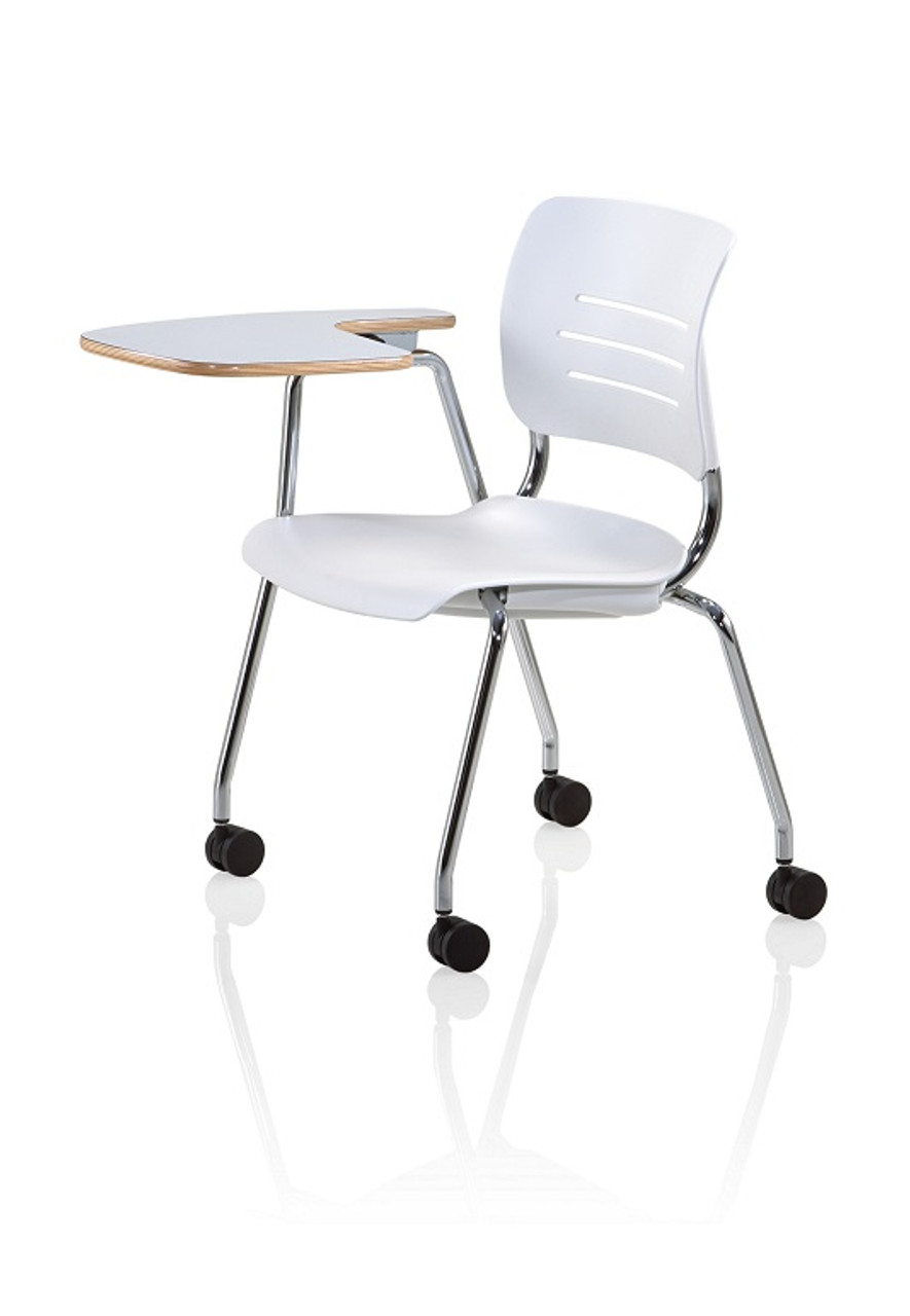 Brilliant Ki Grazie Gltapclh Polypropylene Flip Up Tablet Arm Chair With Casters Alphanode Cool Chair Designs And Ideas Alphanodeonline