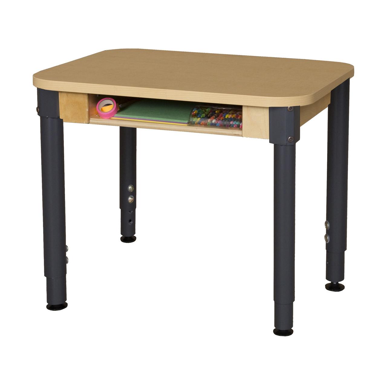 Wood Designs Wdhpl1824dska1829 High Pressure Laminate Student Desk With 18 To 29 Inch Legs