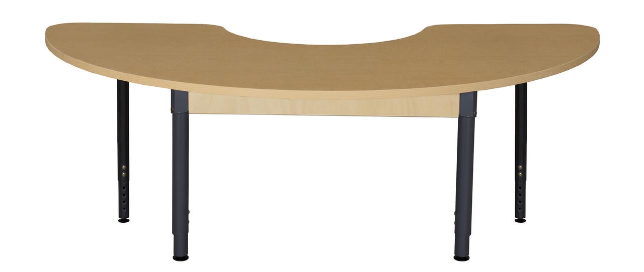 Wood Designs Wdhpl2264hcrca1829 Half Circle High Pressure Laminate Table With Adjustable Legs 18 Inch 29 Inch