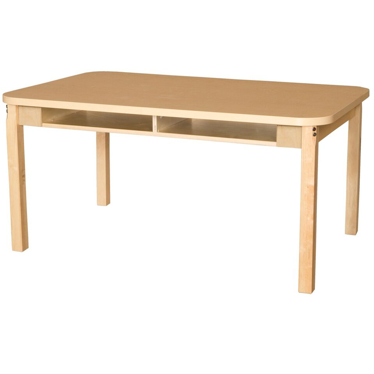Outstanding Wood Designs Wdhpl3648Dsk24 Four Seater High Pressure Laminate Desk With Hardwood 24 Inch Height Caraccident5 Cool Chair Designs And Ideas Caraccident5Info