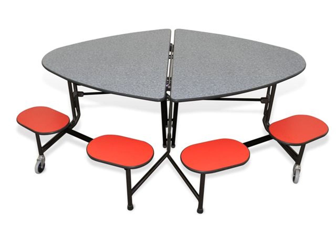 Mitchell Furniture Systems ST 4872 C4 8 Elliptical Table Wth 8 Seats And  Chrome Legs L Affordable Wall Mounted Table U0026 Mitchell Furniture Systems  Products