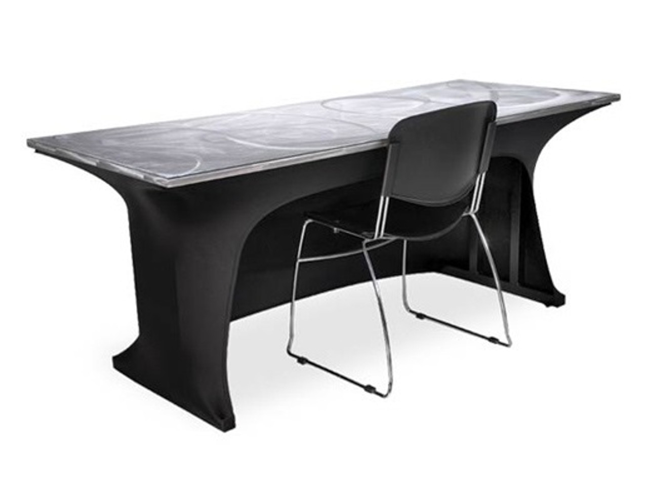Southern Aluminum Span186 3s 3 Sided Modesty Spandex Table Skirt 18x72 L Affordable Tables Southern Aluminum Products