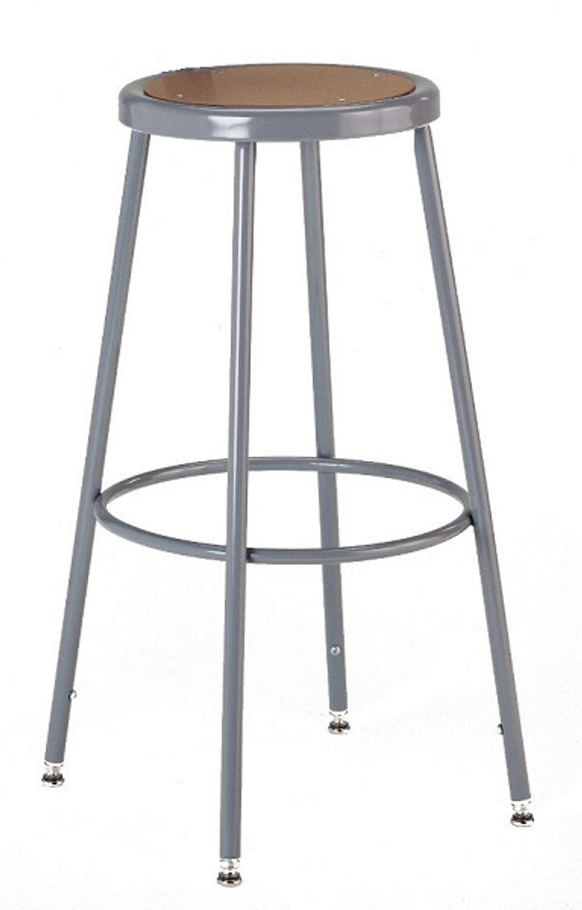 Tremendous Ki 618A Industrial Stool With Wood Seat Adjustable Height 19 To 27 Inzonedesignstudio Interior Chair Design Inzonedesignstudiocom