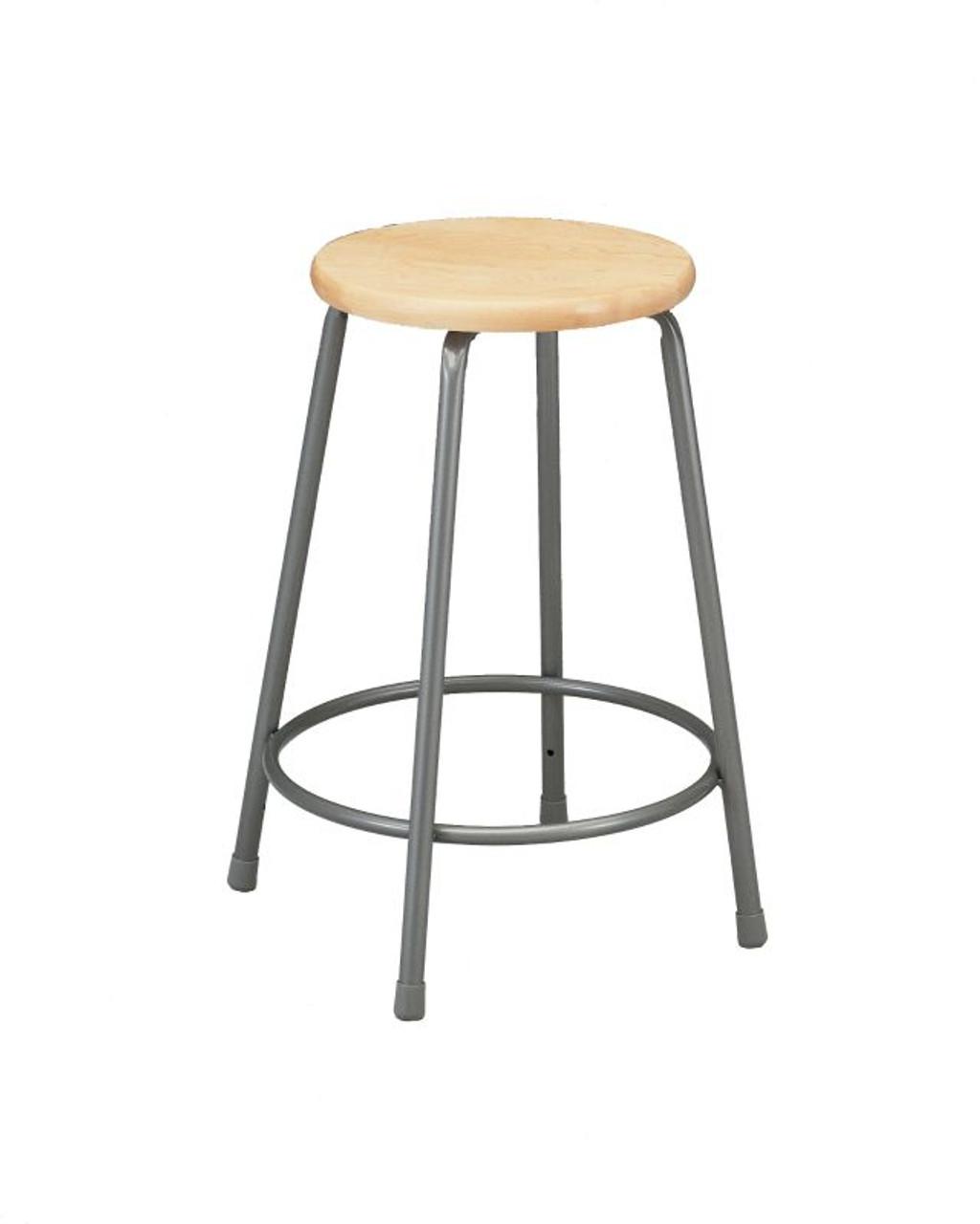 Ki 624w Industrial Wood 24 Seat Stool L Affordable Stools Ki
