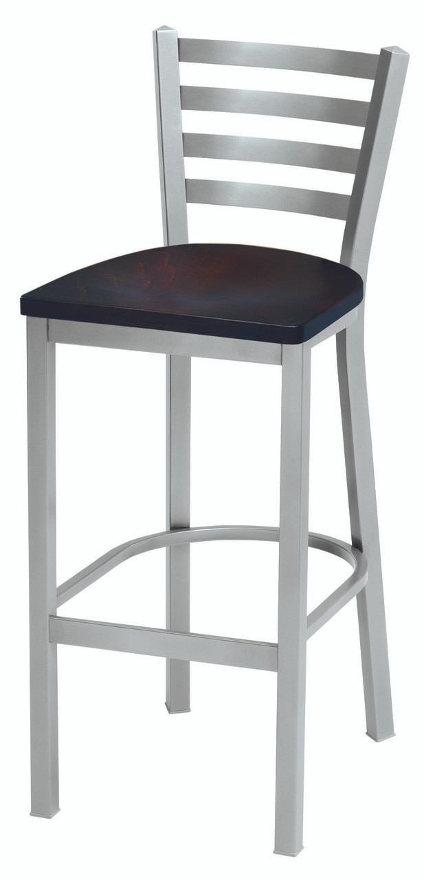 Admirable Grand Rapids Chair 501Bs Melissa Anne Steel Ladder Back Barstool With Wood Seat Forskolin Free Trial Chair Design Images Forskolin Free Trialorg