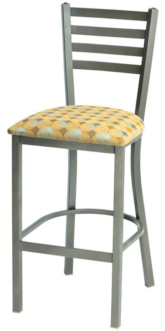 Tremendous Grand Rapids Chair 571Bs Mama Melissa Steel Wide Ladder Back Barstool With Upholstered Seat Forskolin Free Trial Chair Design Images Forskolin Free Trialorg