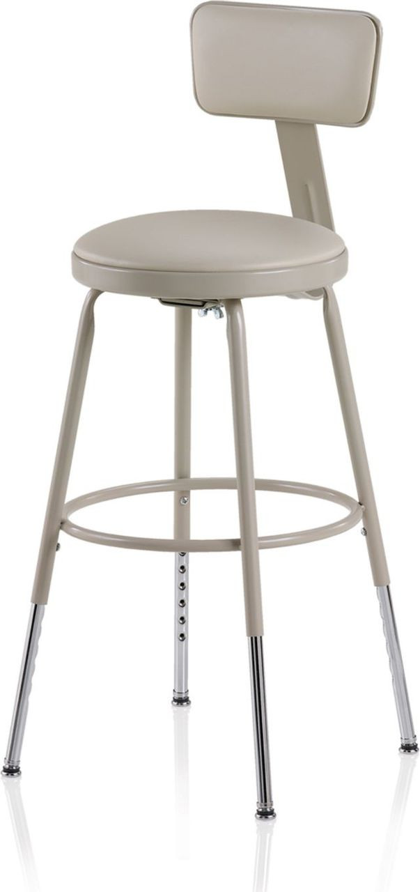 Ki 818ba Industrial Upholstered Seat 19 To 27 Inch Stool And