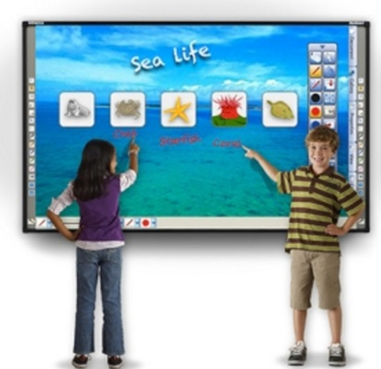 Hitachi FX-79E2 Starboard IWB 4 Touch Interactive Whiteboard 79 Inch