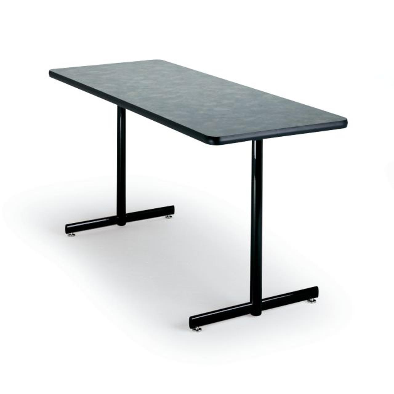 P36st Portico Rectangular T Base Fixed Height Folding Leg Table 36 X