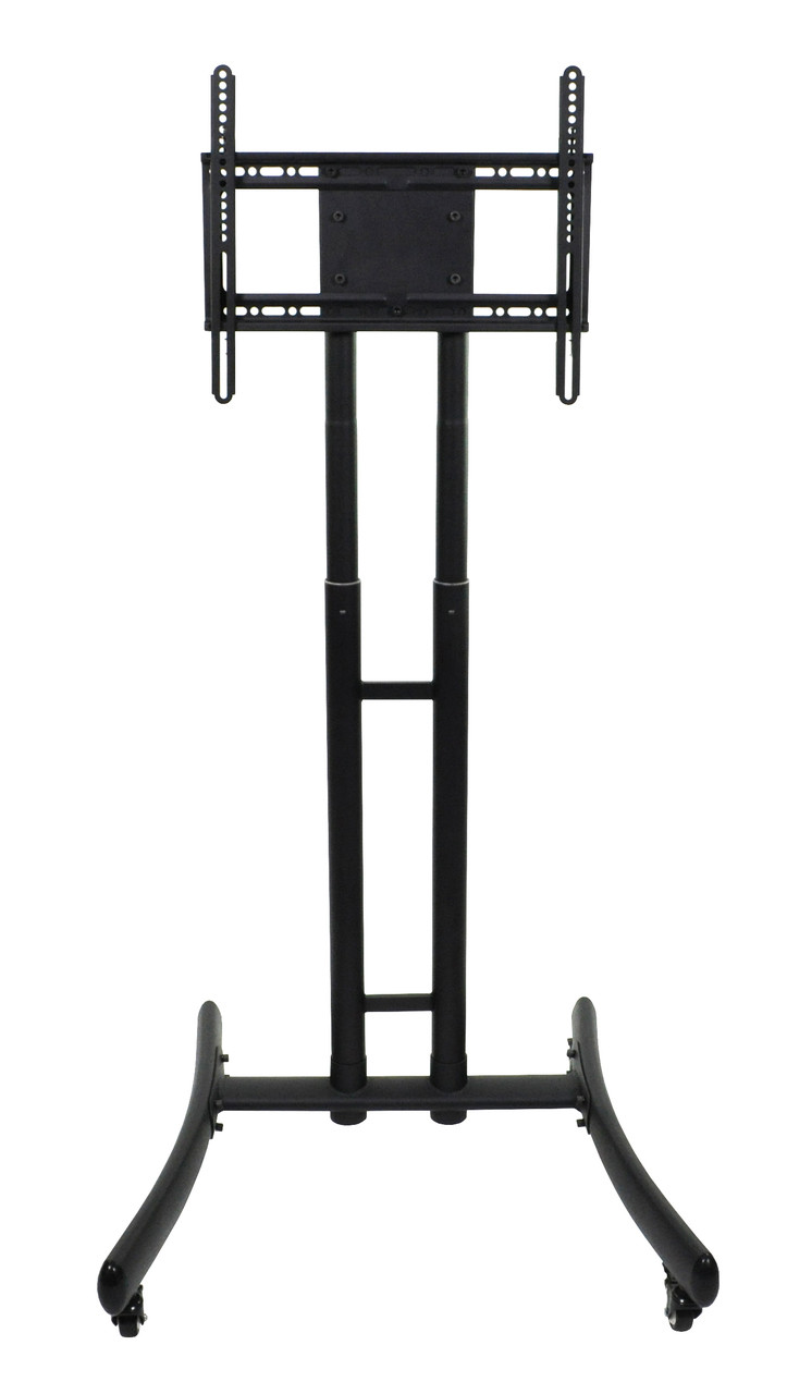 Luxor Fp1000 Height Adjustable Rolling Tv Stand Affordable Flat