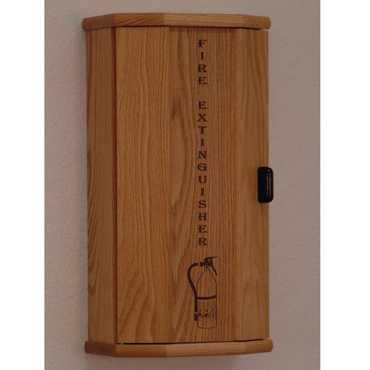 Wooden Mallet FEC10 Fire Extinguisher Cabinet With Engraved Front Panel