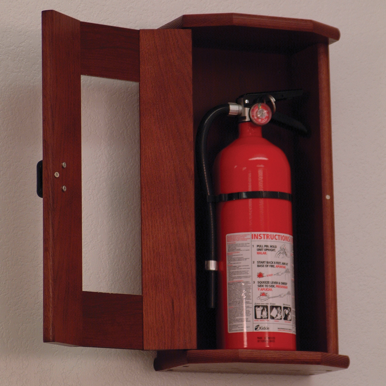 Wooden Mallet FEC21 Fire Extinguisher Cabinet With Acrylic Front Panel