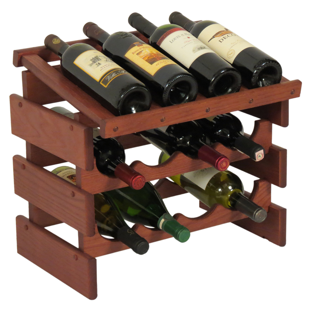 Wooden Mallet Wrd42 Dakota 12 Bottle Wine Rack With Display Top Affordable Coat Rack Wooden Mallet Products