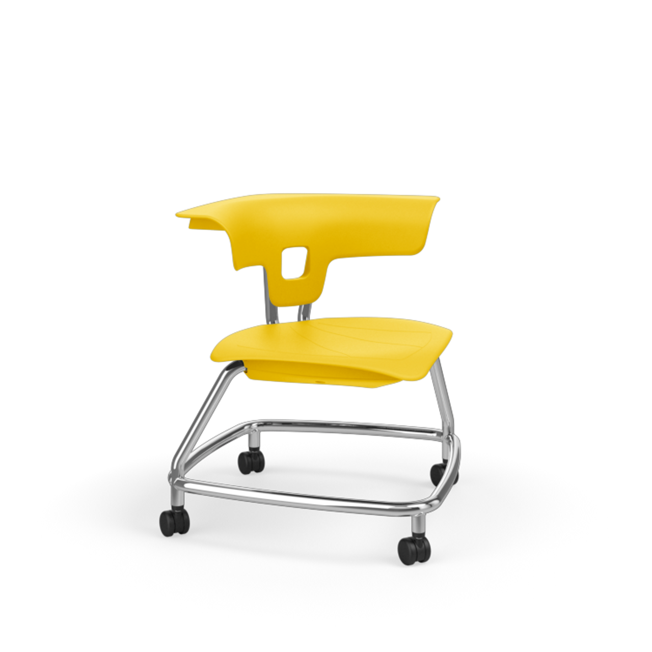 Pleasant Ki Ruckus Rkv100H15Nb Polypropylene Chair With Casters 15 Inch Seat Height Bralicious Painted Fabric Chair Ideas Braliciousco
