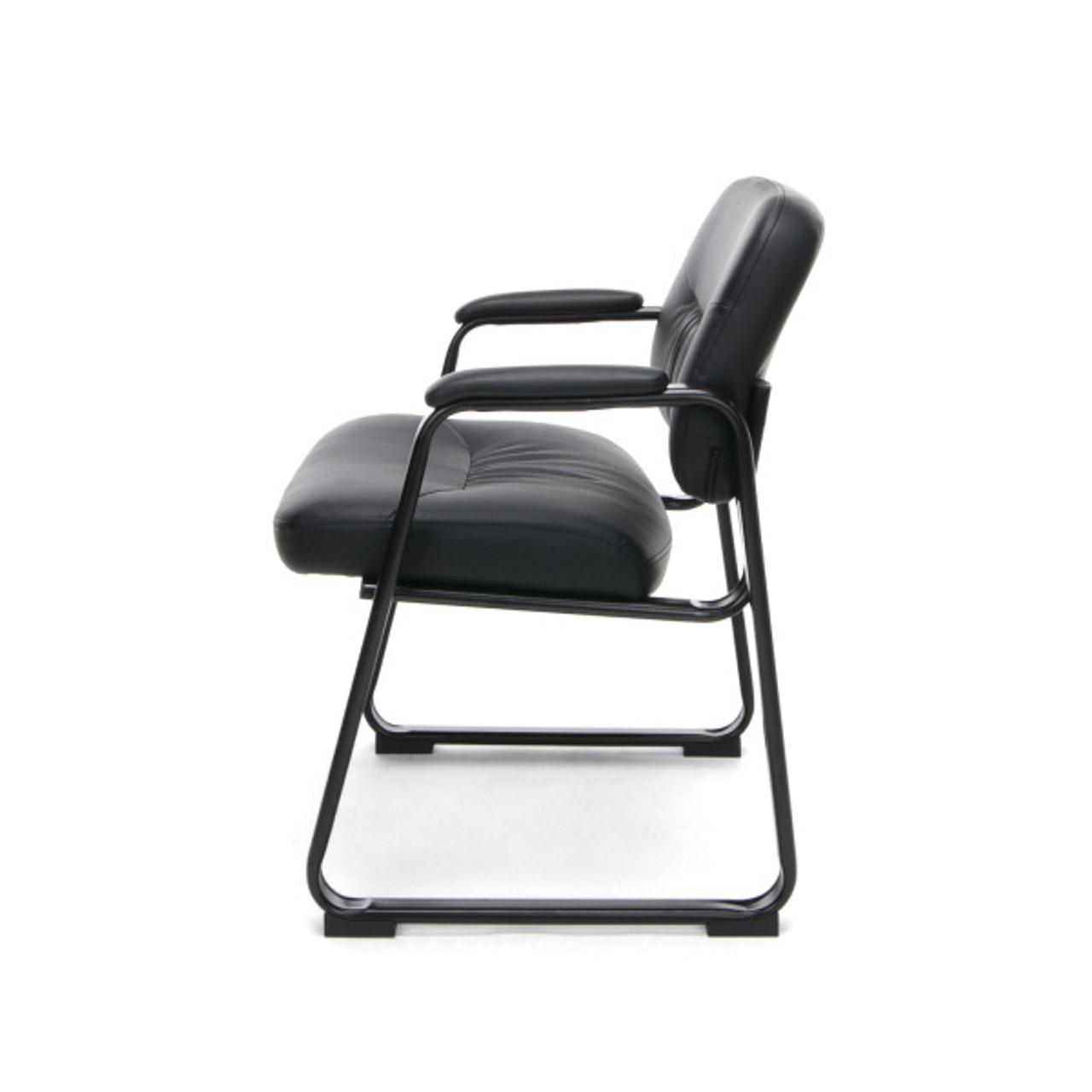 Brilliant Ofm Ess 9015 Essentials Leather Executive Sled Base Side Chair With Padded Arms Pdpeps Interior Chair Design Pdpepsorg
