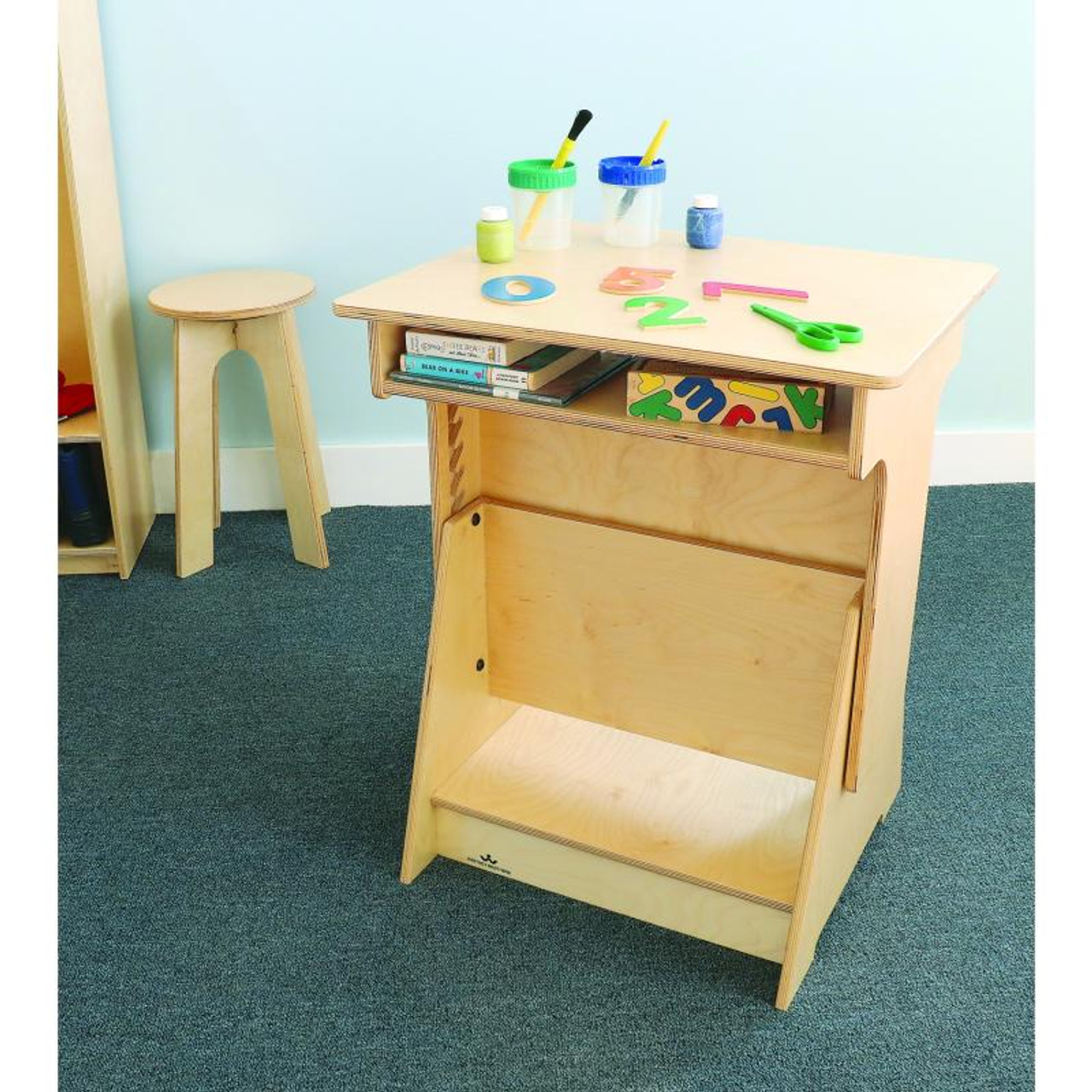 Whitney Brothers Wb1727 Convertible Desk L Affordable Reading Centers Whitney Brothers Products