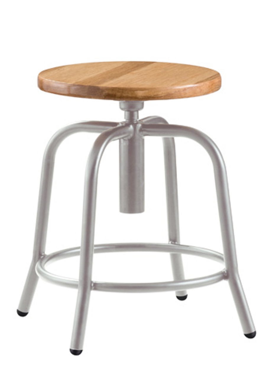 Stupendous National Public Seating 6800W Adjustable Height Stool With Wooden Seat Evergreenethics Interior Chair Design Evergreenethicsorg