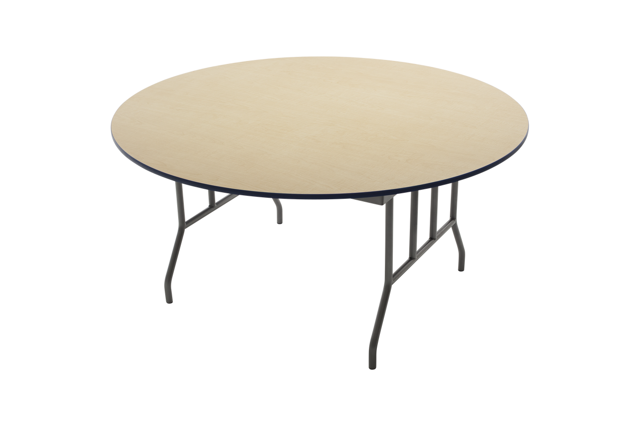Amtab R42dp Plywood Round Folding Table 42 Inch Diameter Fixed