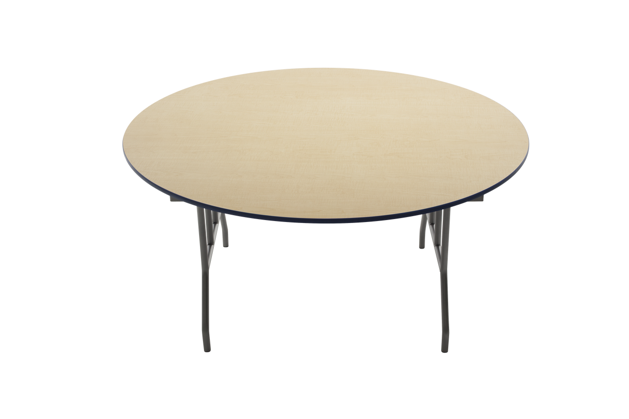 Amtab R42d Particleboard Round Folding Table 42 Inch Diameter Fixed