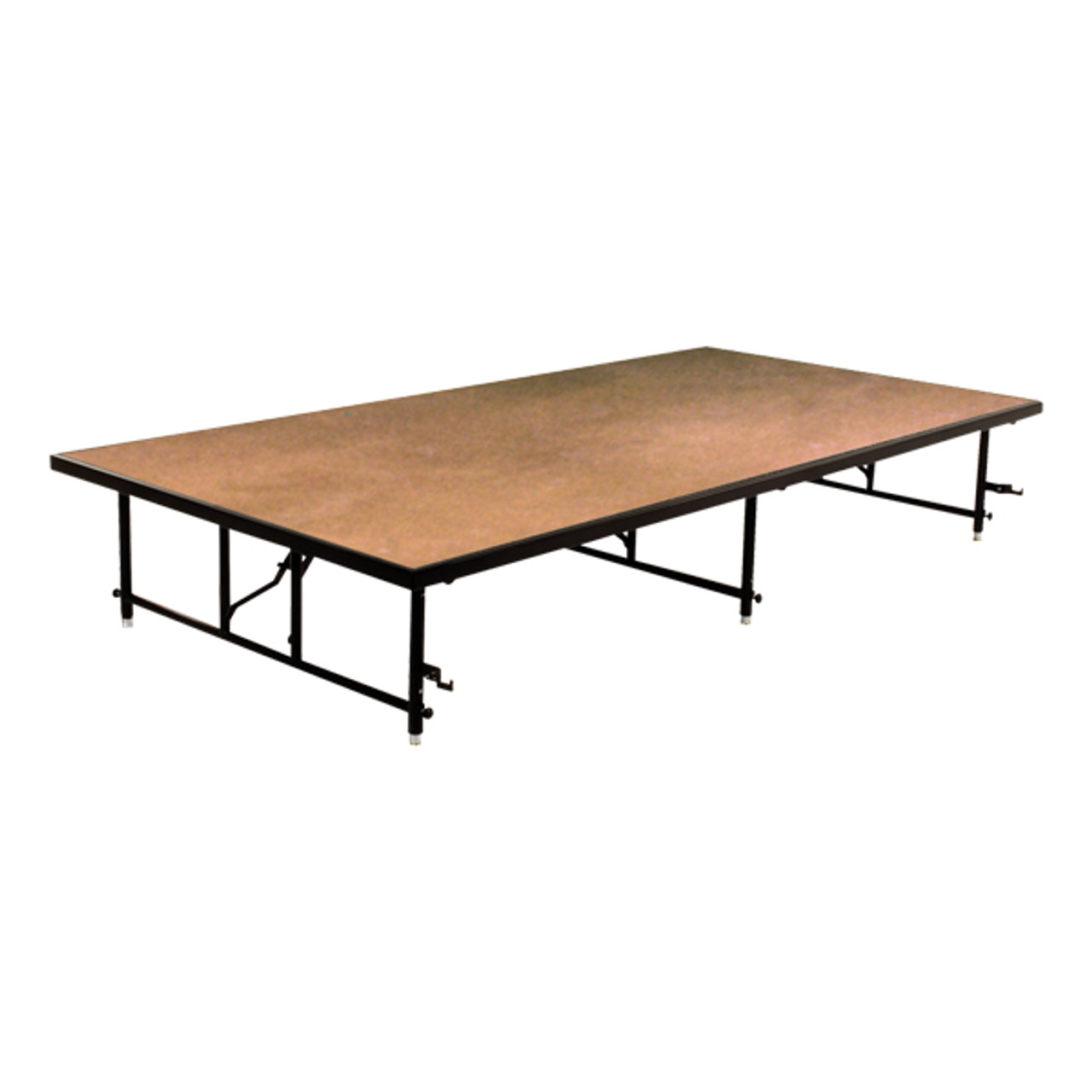 Ta4816h Adjustable Hardboard Deck Rectangle Portable Stage L Affordable Stages Midwest Products